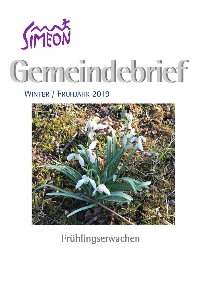 Gemeindebrief Simeon Winter und Frühjahr 2019