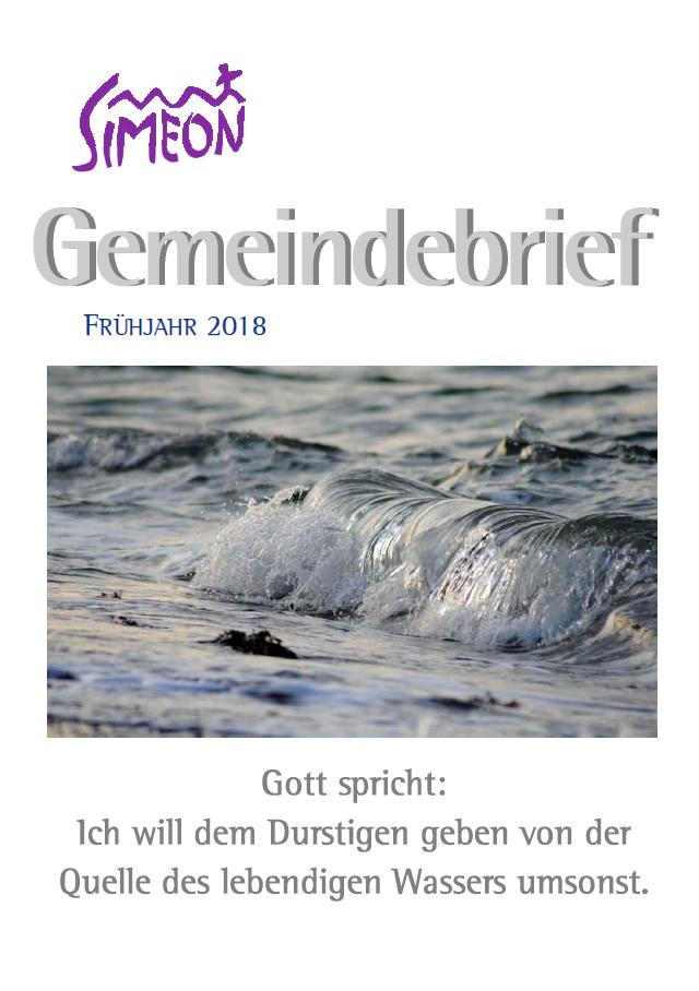 Gemeindebrief Simeon Frühjahr 2018