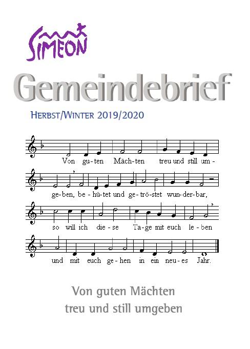 Gemeindebrief Simeon Herbst 2019 Winter 2020
