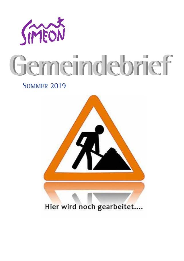 Gemeindebrief Simeon Sommer 2019