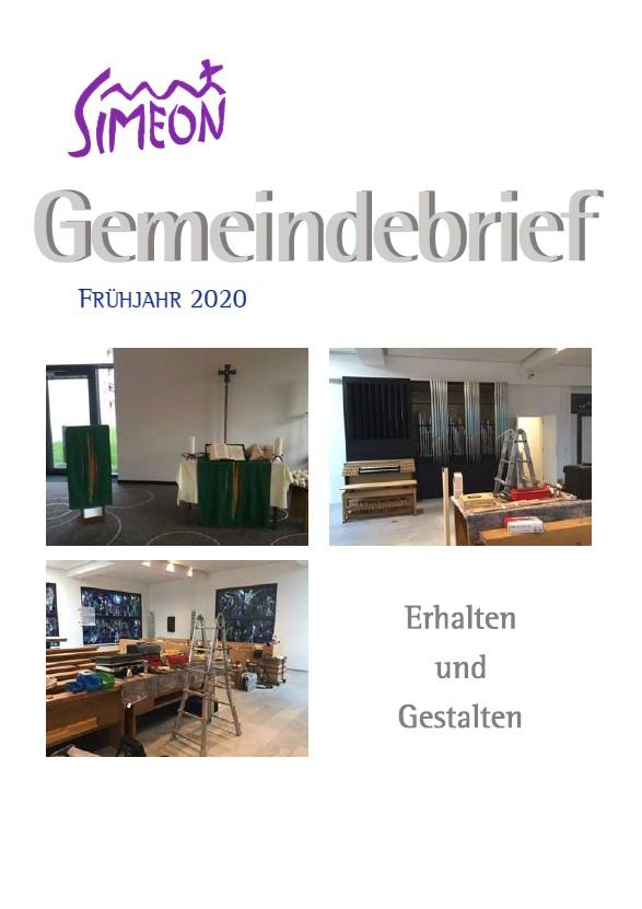 Gemeindebrief Simeon Frühjahr 2020