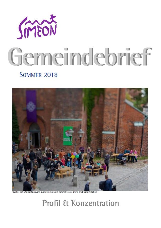 Gemeindebrief Simeon Sommer 2018
