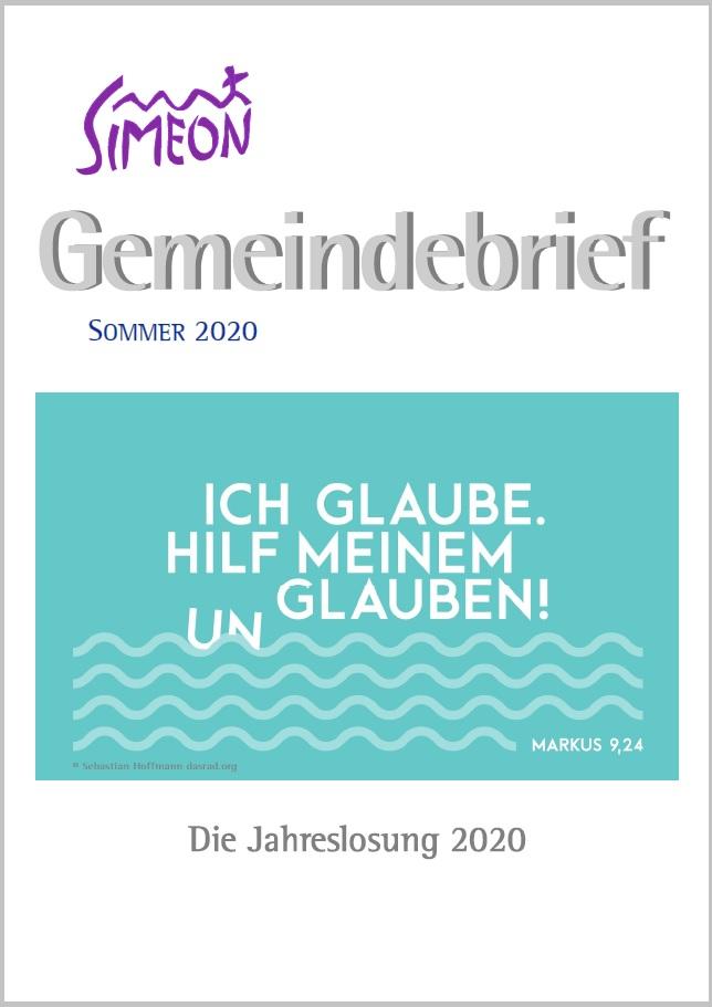 Gemeindebrief Simeon Sommer 2020