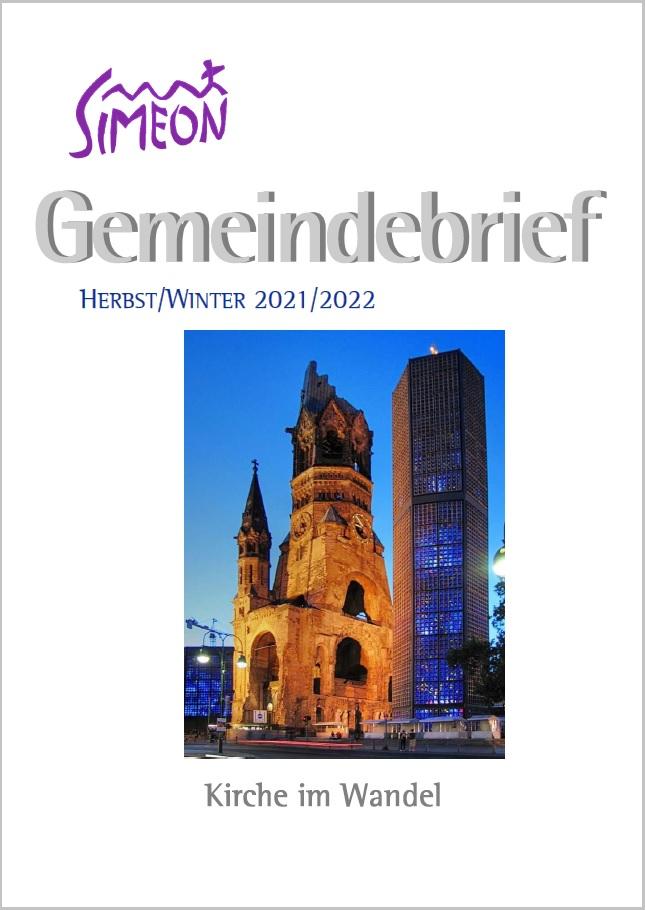 Gemeindebrief Simeon Herbst 2021 Winter 2022