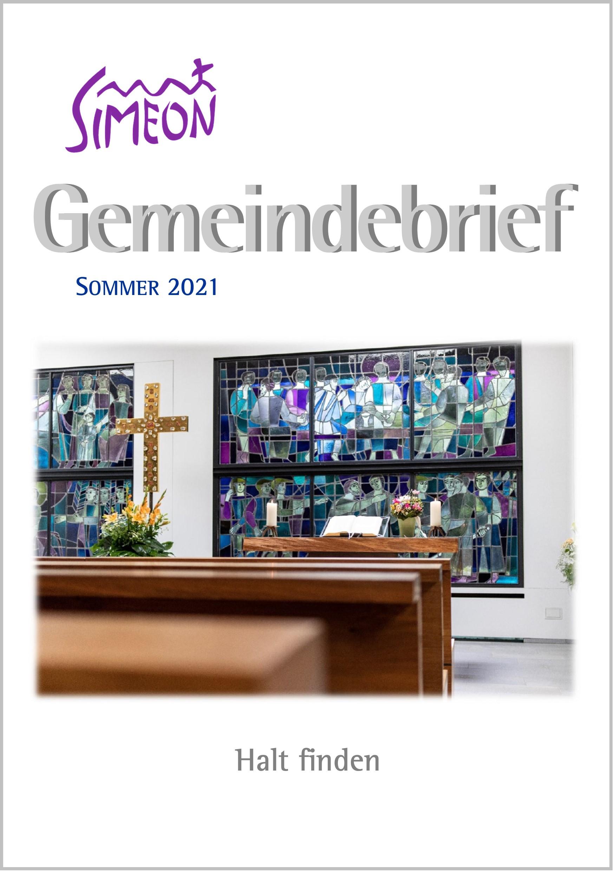 Gemeindebrief Simeon Sommer 2021
